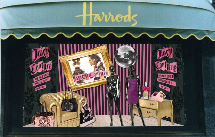 Designer Sophie Watts is back at it with a Juicy Couture   Harrods brand ad  design. This design captures the reserve of Harrods and the cutting-edge  focus ... f47436e075a4